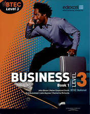 BTEC Level 3 National Business Student Book 1 by Catherine Richards, John Bevan,
