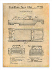 1955 Chevrolet Nomad Wagon Patent Print Art Drawing Poster 18X24