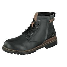 Dockers by Gerli 41BN003 Men's Shoes Boots Black Leather Lace up New