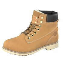 Dockers by Gerli Women's Shoes Boots 39SI302-302910 Golden Tan Leather Lace Up