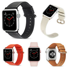 Genuine Leather Strap Bracelet Wrist Watch Band For Apple iWatch 38mm 42mm 3/2/1