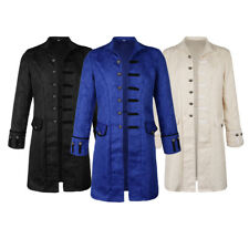 Mens Gothic Party Clothes Jacket Frock Coat Steampunk Victorian Tailcoat