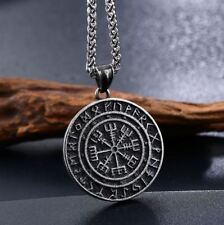 316L Stainless Steel Norse Vikings Vegvisir RUNE Amulet Pendant Necklace Jewelry