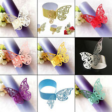 50Pcs Butterfly Napkin Ring Holder Paper Table Party Wedding Home Decor Tools H1