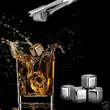 304 Stainless Steel Reusable Ice Cubes best chilling W/ Silicone Case