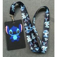 1 PCs Lilo Stitch cartoon cute lace ID holder for badge key ring high quality