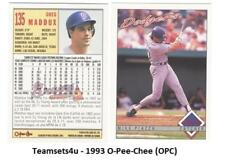 1993 O-Pee-Chee (OPC) Baseball Team Sets ** Pick Your Team Set **