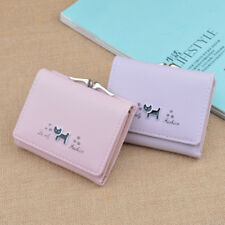 Delicate Cat Pattern Short Wallet Lady Coin Purse Card Holder Fashion Gift