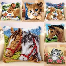 Decorative Animals Latch Hook Kits Embroidery Pillow Case Cushion Cover 43x43cm