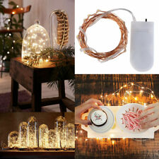 2M 20 LEDs Button Battery Operated Mini LED Copper Wire String Fairy Lights Lamp