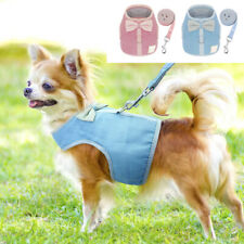 Mesh Padded Soft Dog Harness Adjustable Puppy Vest  with Leash for Pet Cats S-L