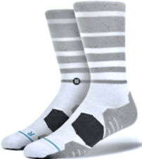 STANCE On Course White Grey Crew Fusion Golf Socks NEW Mens Sz L / XL 9-13