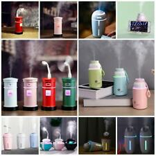 Multifunctional USB Air Humidifier Aroma Diffuser Cooling Fan Mini Table Lamp