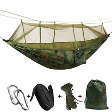 1-2 Person Outdoor Mosquito Net Parachute Hammock Camping Hanging Sleeping Bed