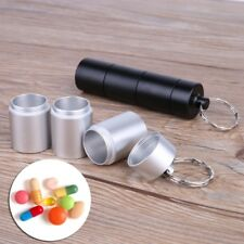 Seal Pill Box Travel Survival Waterproof Tank Medicine Bottle Keychain Container