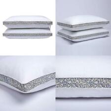 Down Feather Bed Pillows Gusseted Pillows Side Back Sleepers Set Of 2 Standard
