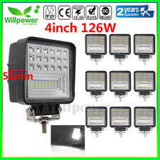 4inch 126W Flood Spot LED Work Light Bar for Off road Tractor Truck Jeep SUV ATV