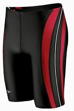 SPEEDO Rapid Splice Powerflex Swim Jammer Shorts Black Red White NEW Mens 34 38