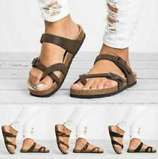 Women Ladies Flat Sandals Toe Post Summer Casual Shoes Slippers Flip Flops Mules