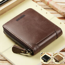 Fashion Mens Bifold Wallet ID Credit Card Holder Billfold Purse Clutch Zipper