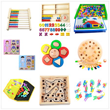 Kids Baby Toys Maths Wooden Puzzle Memory Learning Game Educational Toy игрушки`