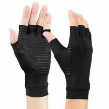 1 Pair Copper Compression Gloves Hand Support Fit Arthritis Joint Pain Relief