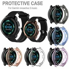 TPU Soft Case Watch Protector Housing Shell Cover for Garmin Vivoactive3 Music