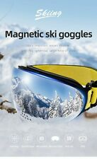 Magnetic Ski Goggles With Double Layers Nasal Mask For Snowboard Ski Men Women