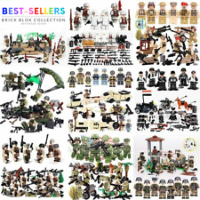 WW2 Military Soldiers France US Britain Japanese Army+Weapon Minifigures Blocks