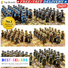 21pcs WW2 Military Soldiers France/US/Britain Army Building Block Minifigures
