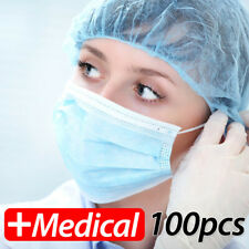 Fast Ship Disposable Face Mask Surgical Medical Dust Masks 3 Ply 50-100 Pcs