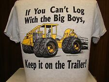 Logging Logger T-shirt with a Hot-Rod Skidder design