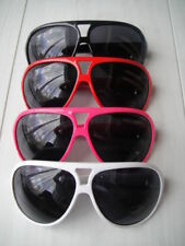 White Red Pink Black retro 80's sunglasses Fancy Dress