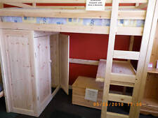 Bed with wardrobe and desk, High sleeper, Loft bed