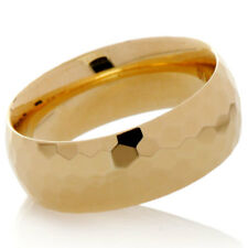 Shiny Faceted Wedding Band Ring 14K Yellow Gold 7mm