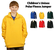 Kids Mt Buller Polar Fleece Half Zip Pullover/Jumper