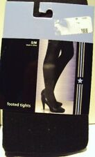 Hosiery Network Brand Gray or Black Ribbed footed Sweater tights Size S/M M/L