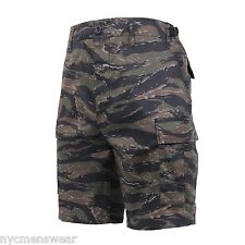 TIGER STRIPE CAMO MILITARY SHORTS ARMY CARGO SHORT