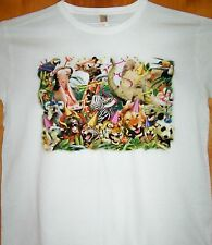 PARTY ANIMALS Ladies White T Shirt  Sz  Sm - 3XL  It's a Jungle Carnival