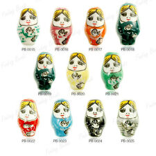 10PC FREE SHIP Porcelain Russian Doll Beads 22mm choose