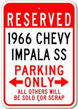 1966 66 CHEVY IMPALA SS Parking Sign