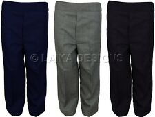 BOYS SCHOOL UNIFORM TROUSERS ELASTICATED PULL UP STYLE
