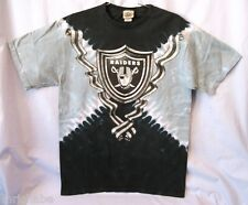 OAKLAND RAIDERS MEN'S LIQUID BLUE TIE DYE T-SHIRT M L XL FREE SHIPPING SALE