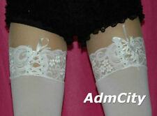 Admcity Opaque Stocking with Lace Top Stocking