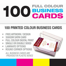 100 Business Cards - Full Colour - Free Design-Free P&P