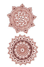Temporary Tattoo Mehndi Costume Tattoo 612