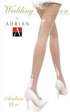 WHITE PATTERNED TIGHTS  20 DEN HOSIERY PERFECT FOR  WEDDING
