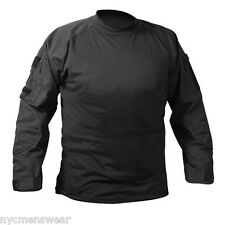 BLACK MILITARY COMBAT SHIRTS ARMY COMBAT TOP