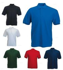 Mens 100% Cotton Rich Polo T Shirts Size XS to 4XL - LEISURE WORK SPORTS CASUAL