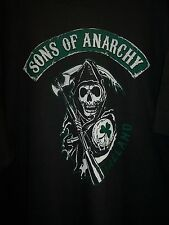 SONS OF ANARCHY IRELAND REAPER SOA DOUBLE SIDED PRINT T-SHIRT NEW !